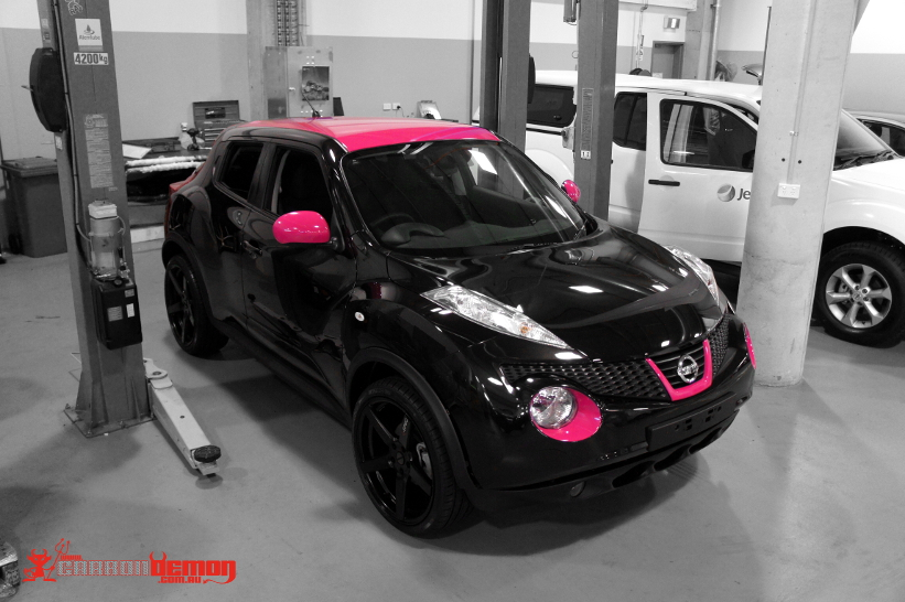 Nissan Vinyl Wrap Carbon Demon Sydney