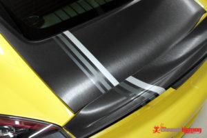 Porsche Brushed Black Bonnet Wrap