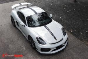 Porsche Cayman GT4 stripes