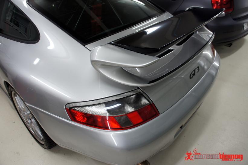 Porsche GT3 Rear Spoiler Blade Gloss Black Vinyl Wrap