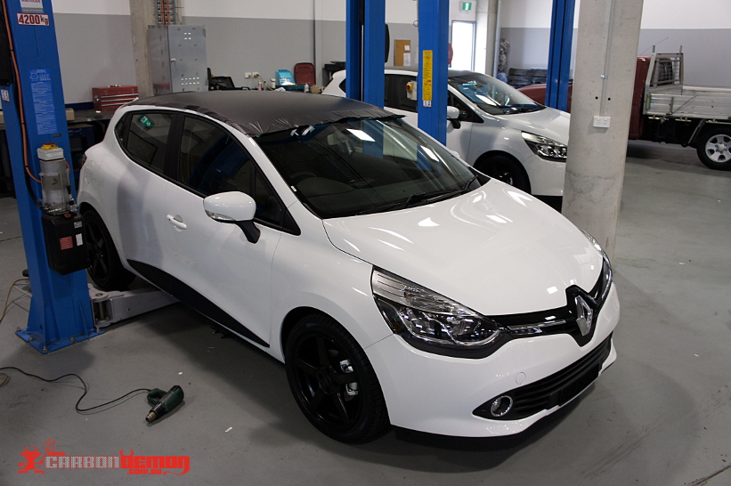 Renault Megane Rs265 Rs250 Clio Gloss Black Roof Carbon