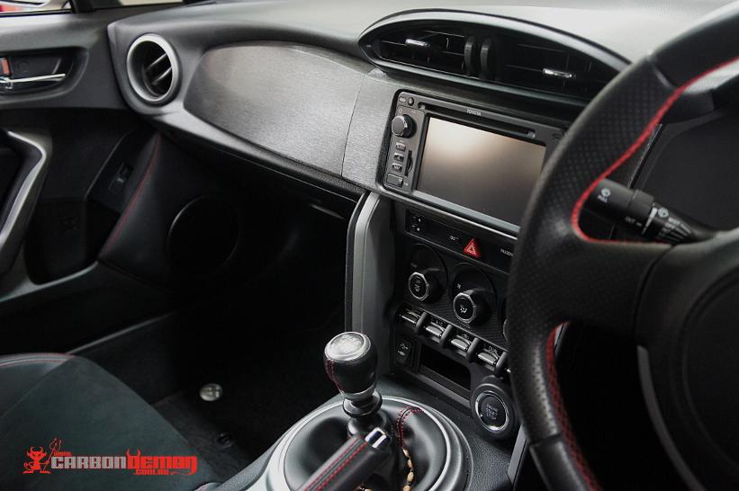Toyota 86 Brushed black interior trim vinyl wrap