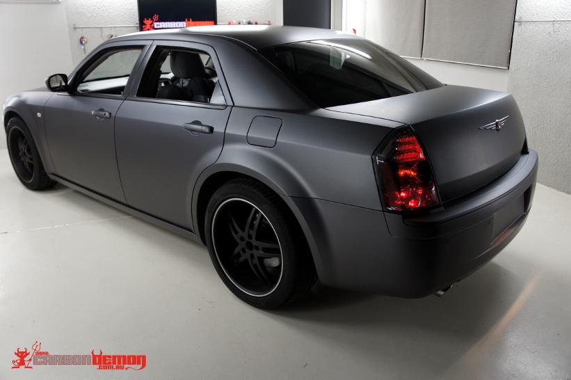 Chrysler 300c Vinyl Wrap Carbon Demon