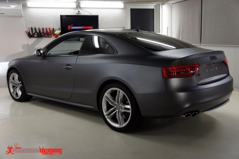 Audi S5 Matte Grey Metallic Vinyl Wrapped By Carbon Demon