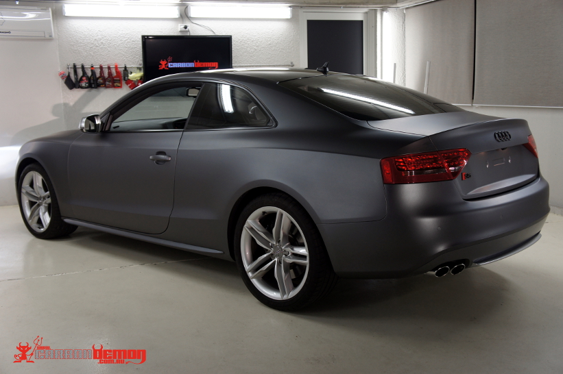 Audi S5 Coupe Matte Dark Grey Wrap