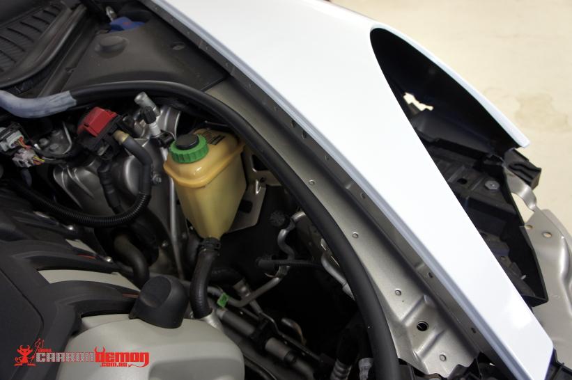 Porsche Panamera 4s gloss white vinyl wrap with Avery Dennison Supreme