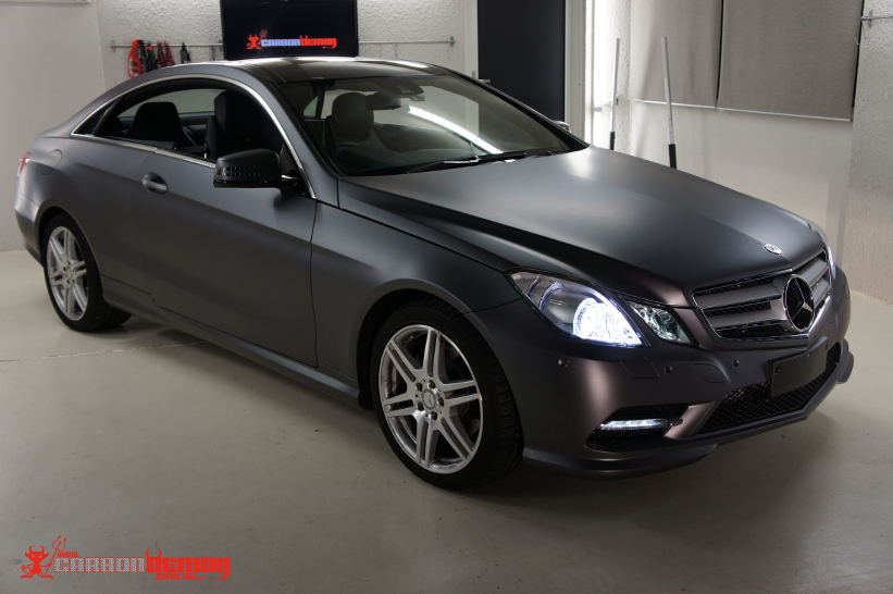 Mercedes-Benz E-Coupe Matte Grey Metallic Vinyl Wrap ( 1 )