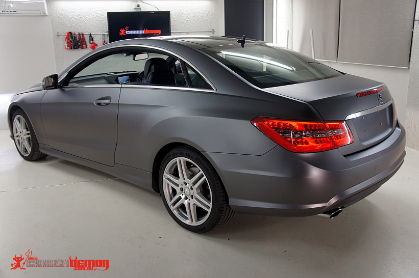 Mercedes-Benz E-Coupe Matte Grey Metallic Vinyl Wrap ( 2 )