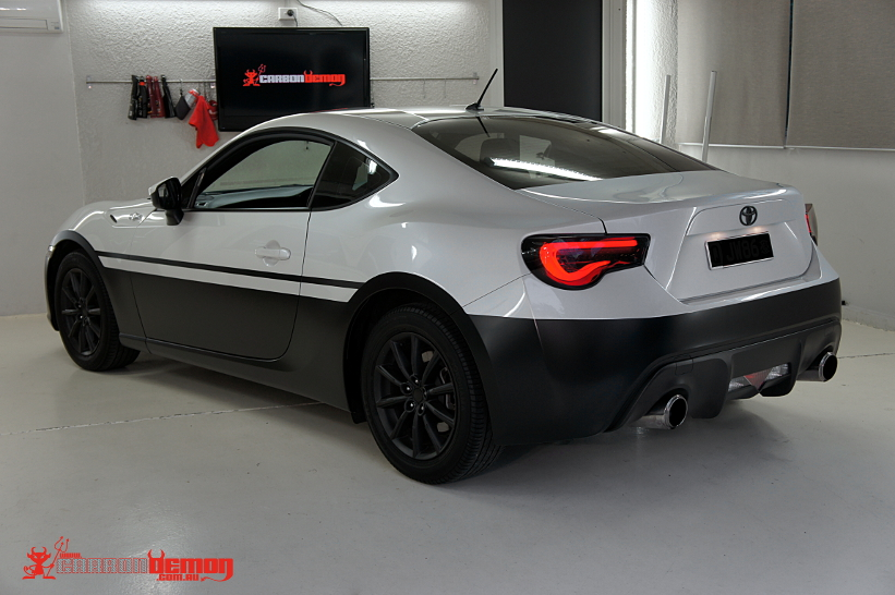 toyota 86 vinyl wrap carbon demon. Black Bedroom Furniture Sets. Home Design Ideas