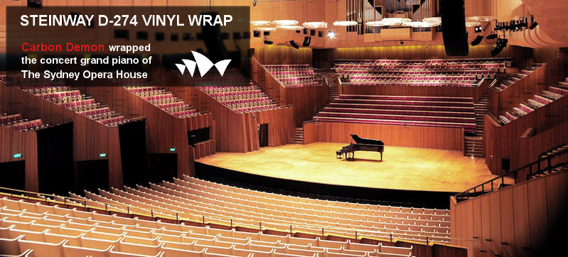 Sydney Opera House Piano Wrap by Carbon Demon