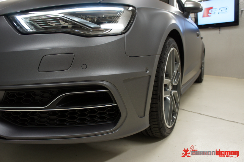 Audi S3 8V - Metallic Grey Vinyl Wrap