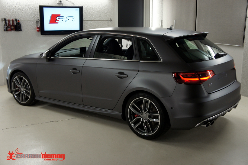 Audi Car Wraps Carbon Demon