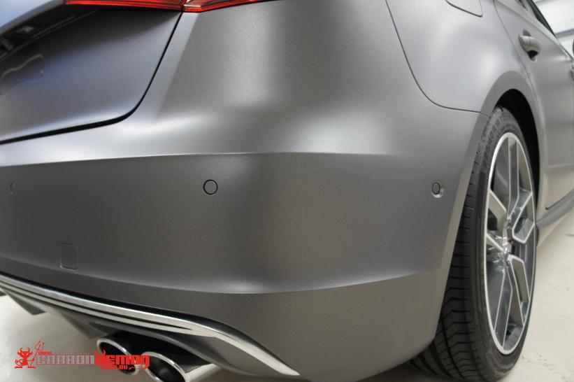 Audi matte grey vinyl wrap