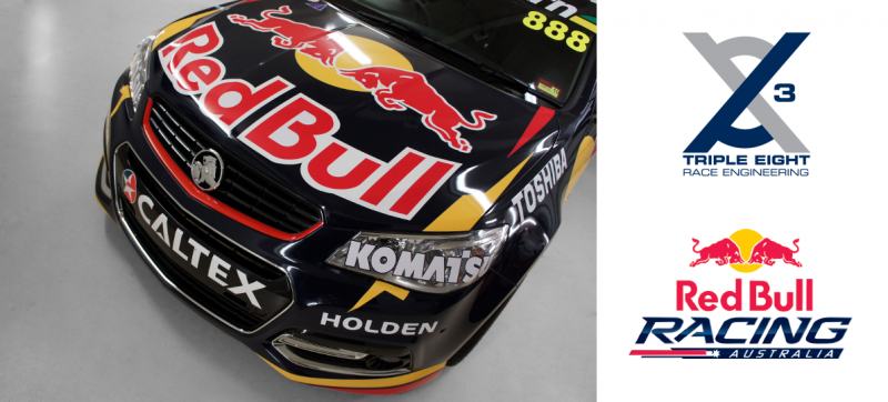 Red Bull show cars - vinyl wrapped by Carbon Demon Sydney