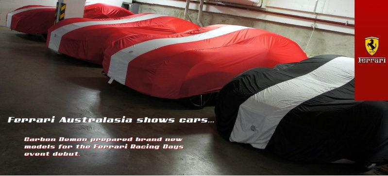 Ferrari vinyl wrapped by Carbon Demon Sydney