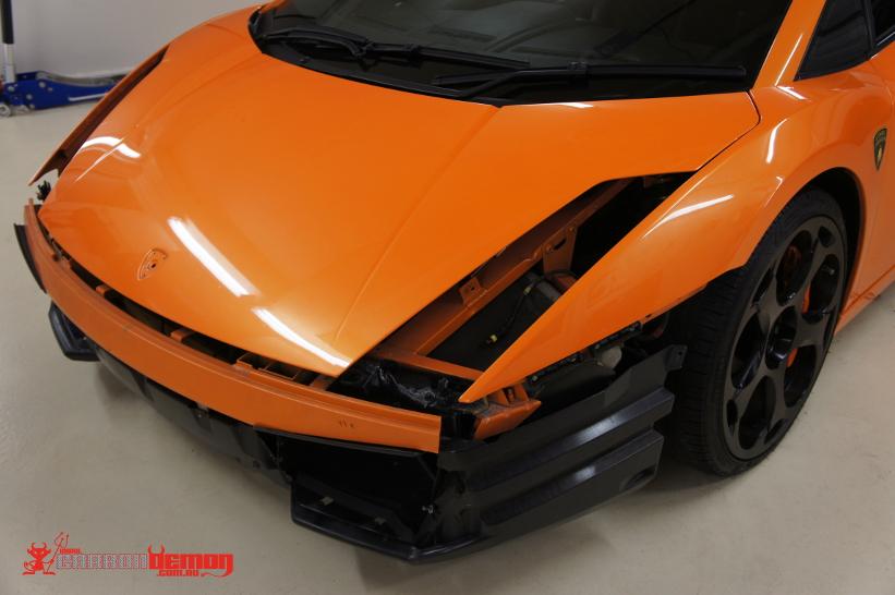 Lamborghini Gallardo Matte Black Vinyl Wrap (4)
