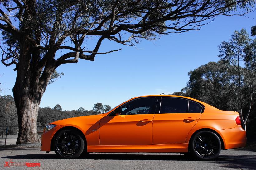 Matte orange BMW