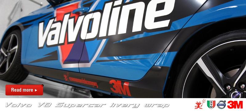 Volvo V8 Supercar livery vinyl wrap