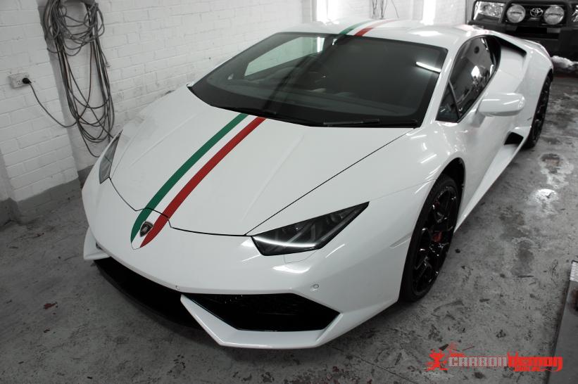 Lamborghini Custom Colour Vinyl Wrap Carbon Demon