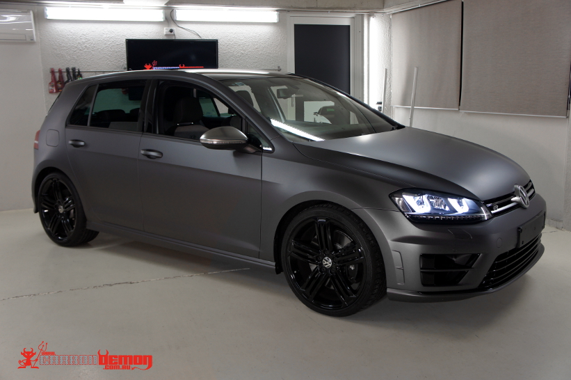 Golf R MK7 matte dark grey