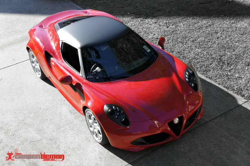 Alfa Custom Colour Vinyl Wrap Carbon Demon