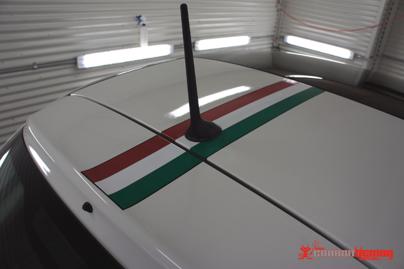FIAT 500 - Italian Colours Stripe