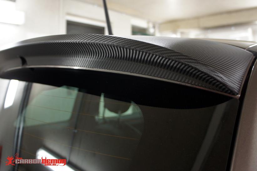 Fiat Carbon Fibre Spoiler Wrap