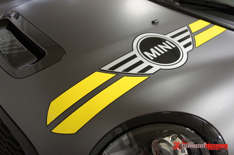 Mini Cooper bonnet stripes