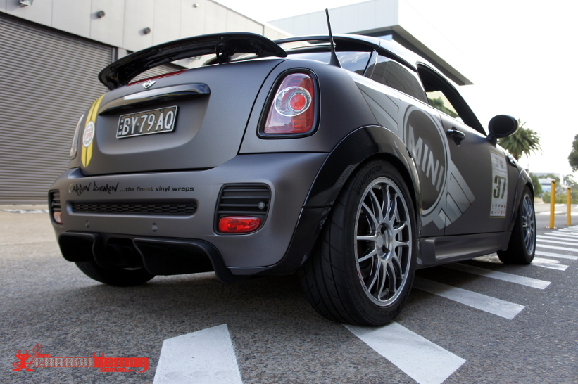 Jcw Metallic Matte Grey Carbon Demon Vinyl Wrap Sydney