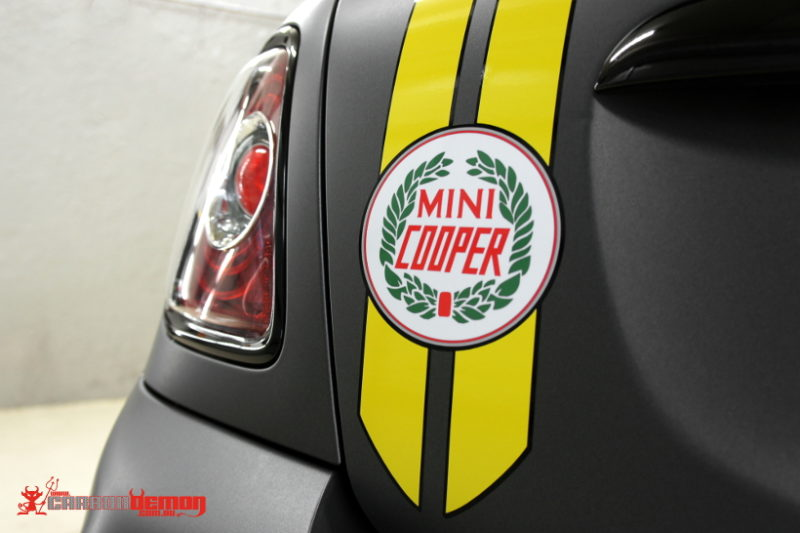 Mini Cooper retro graphics